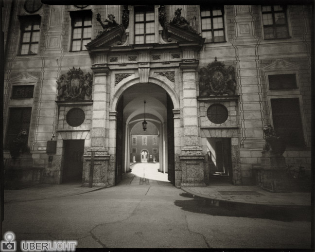 Harman Direct Positive Paper FB 04 baryta developed in Caffenol, Residenz Munich