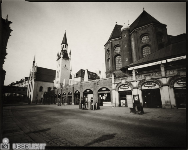 Harman Direct Positive Paper FB 06 Caffenol developer, pinhole camera, Munich nostalgia