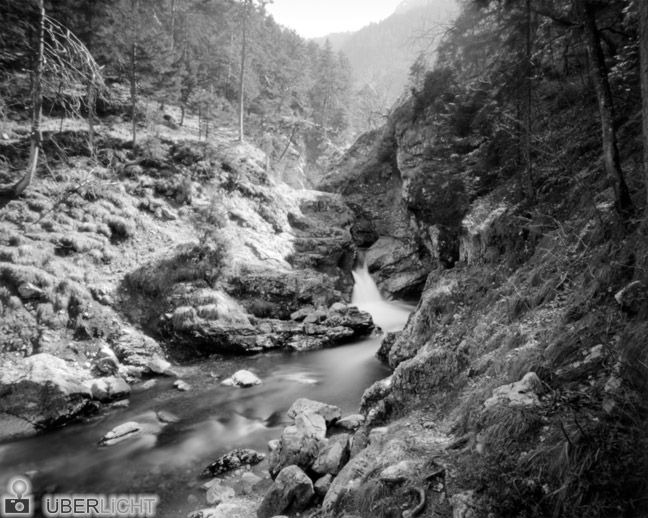 Torrent River Valley Monochrome Ilford Harman Titan Pinhole Camera