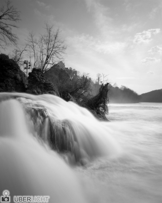 Ilford Harman Titan Pinhole Camera 4x5 Rhine Falls Waterfall Monochrome