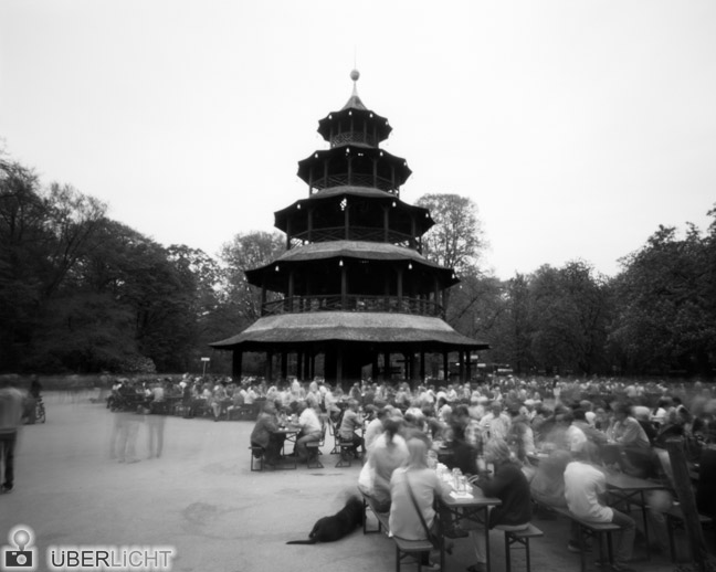 Ilford Harman Titan Pinhole Camera Chinesischer Turm English Garden Munich