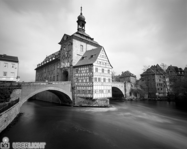 Harman Titan Pinhole Camera Ilford Old Town Hall Bamberg River Germany 4x5
