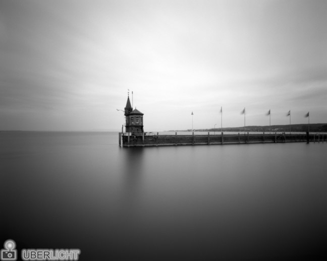 Ilford Harman Titan Pinhole Mole Lake Constance Black White 4x5 Camera Obscura