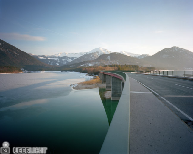 Harman Titan Sylvenstein Reservoir Ilford Pinhole Camera Mountains Alps Germany